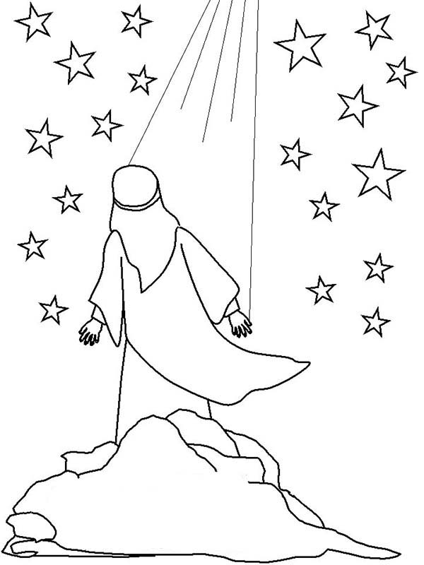 600x800 Night When Abraham Saw Light Of God Coloring Pages Batch Coloring