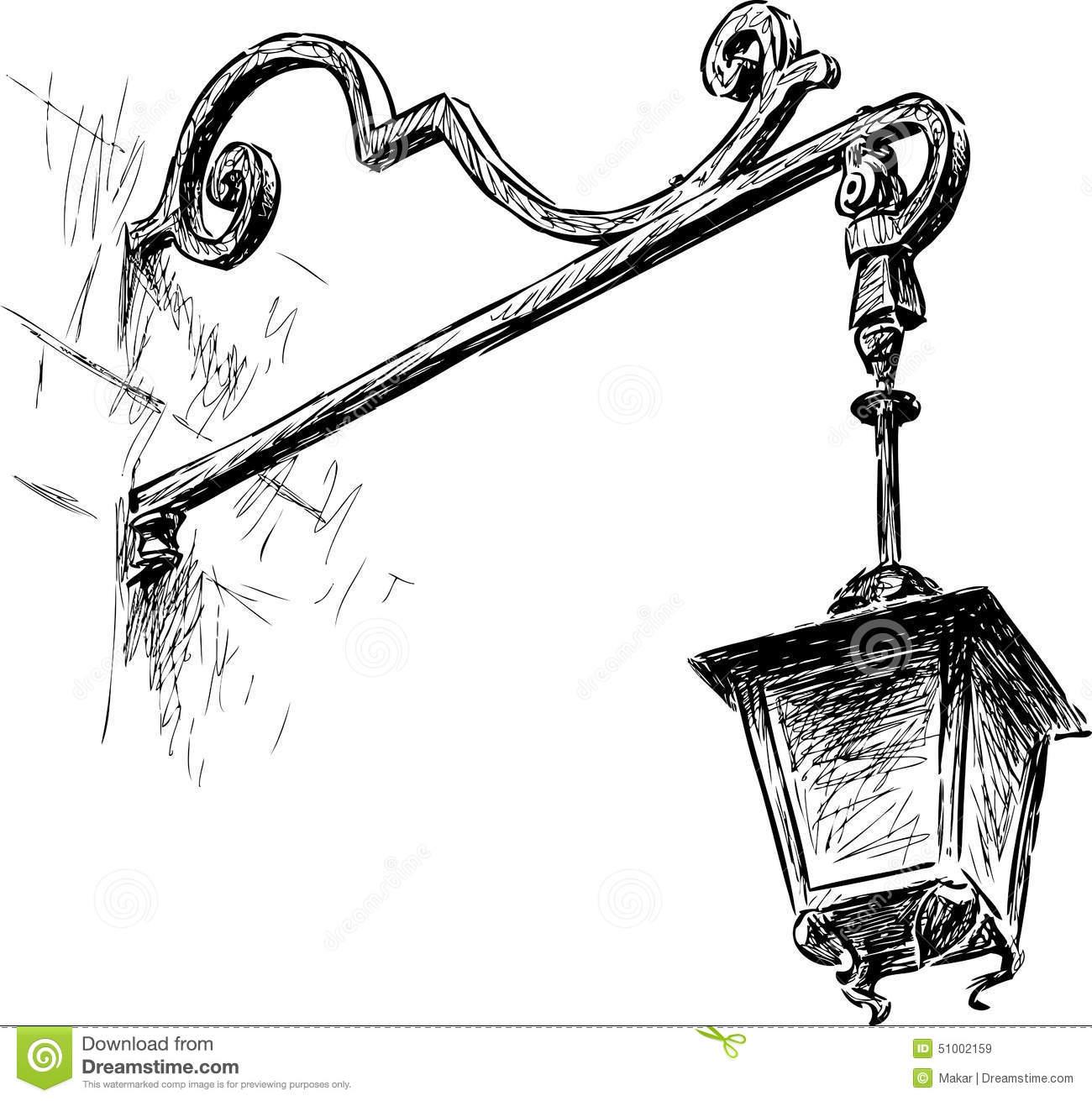 1300x1311 Draw A Street Lamp