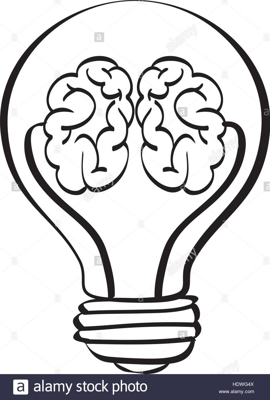 939x1390 Bulb Light Draw Icon Vector Illustration Graphic Design Stock