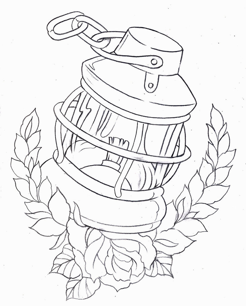 802x996 Ships Navigation Light Drawing By Blackstartattoo