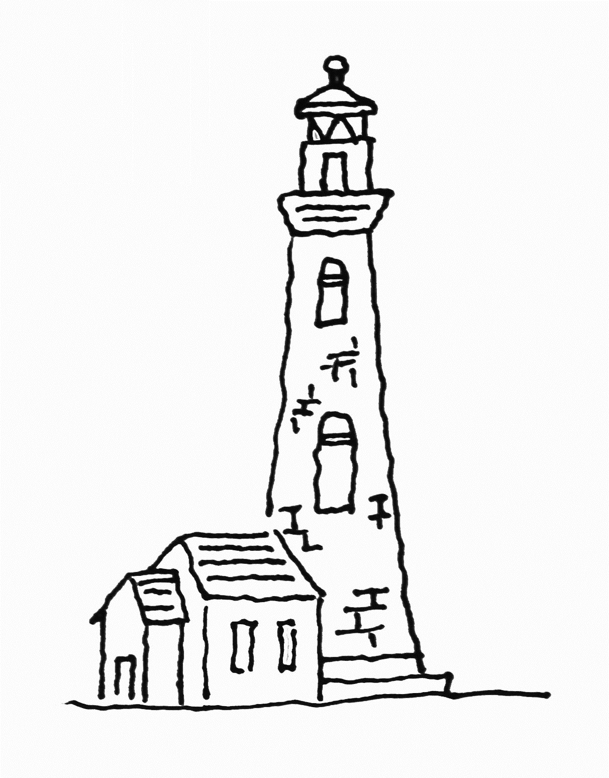 1212x1548 Free Printable Lighthouse Coloring Pages For Kids