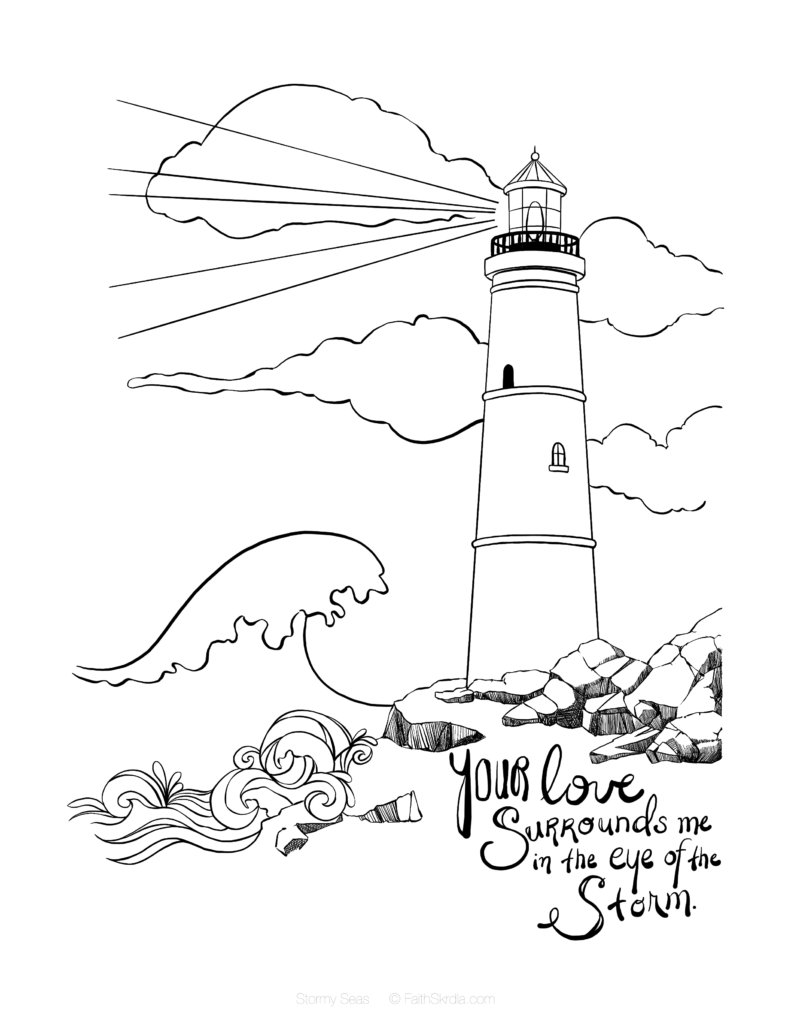 791x1024 Lighthouse Free Coloring Page Anchor Printable