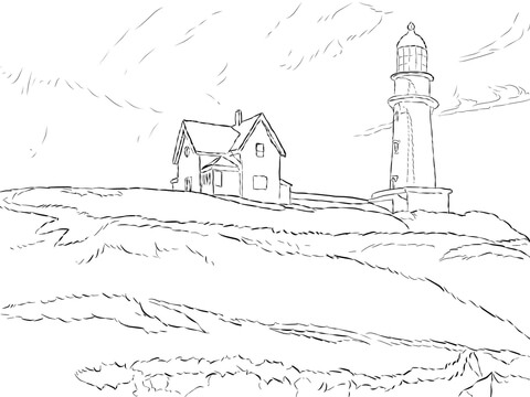 480x360 Lighthouse Hill By Edward Hopper Coloring Page Free Printable