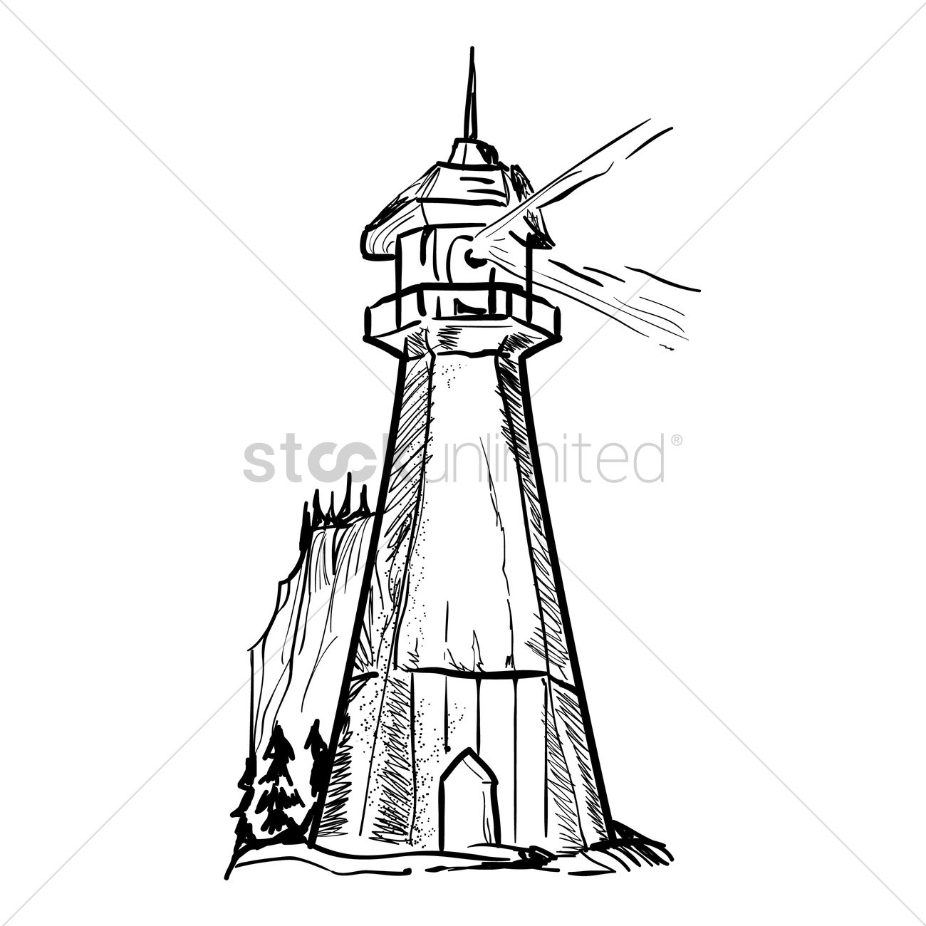 1300x1300 Lighthouse Vector Image