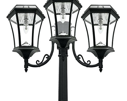 500x400 Solar Lamp Post White Finish Petvet.club