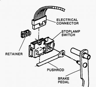 light switch drawing at getdrawings free for personal use Dodge Ram 1500 Wiring Diagram 331x300 1997 gmc c1500 access to brake light switch on brake pedal