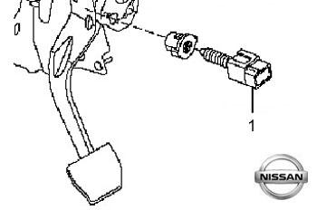 350x232 Brake Light Switch Nissan Qashqai 2011 2013 1.5 Dci 108bhp Diesel
