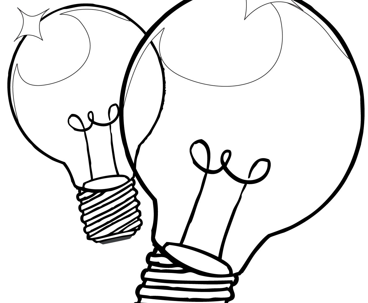1275x1050 Light Bulb Coloring Page For Kids Free Printable Christmas Sheet