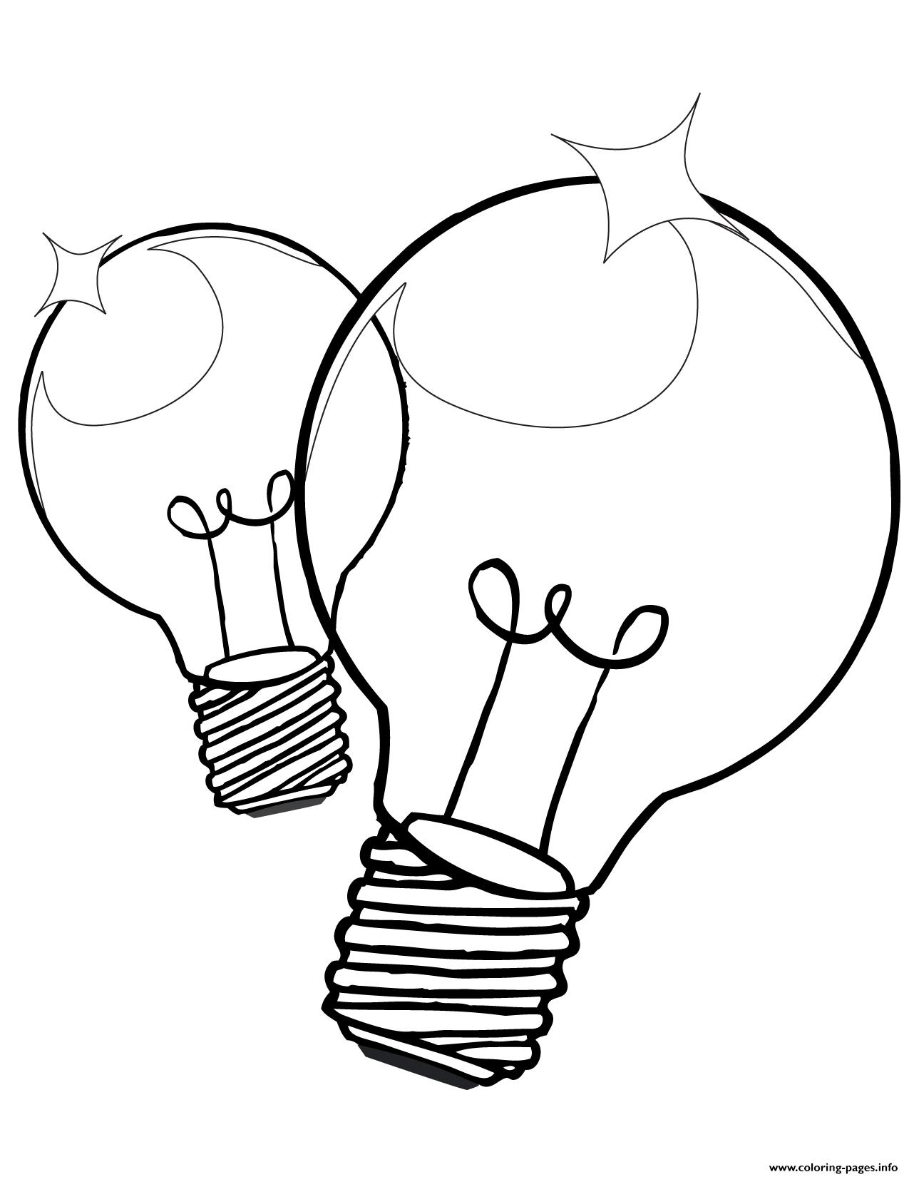 1275x1650 Printable Light Bulb Coloring Page Coloring