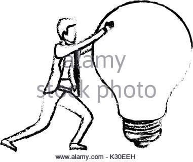 381x320 Businessman Symbol With Creative Light Bulb Sign ,design