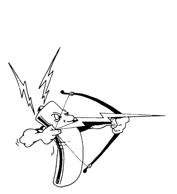 600x660 A Battery Shoot Lighting Bolt Arrow Coloring Page Color Luna