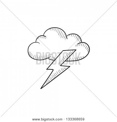 450x470 Cloud Lightning Bolt Vector Sketch Vector Amp Photo Bigstock