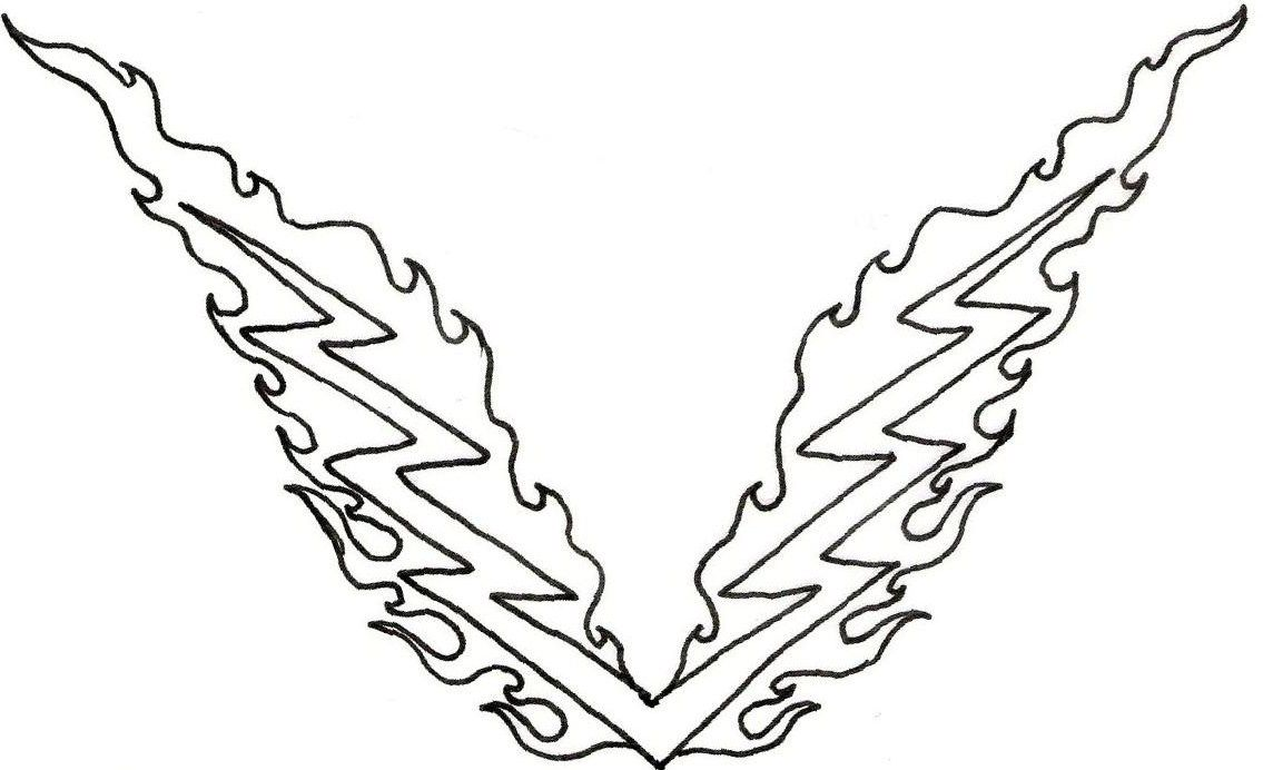 1135x692 Lightning Bolt Coloring Page
