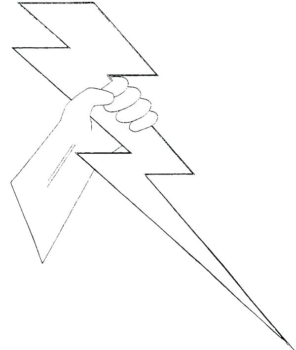 600x710 Lightning Bolt Coloring Page Lightning Bolt Coloring Page