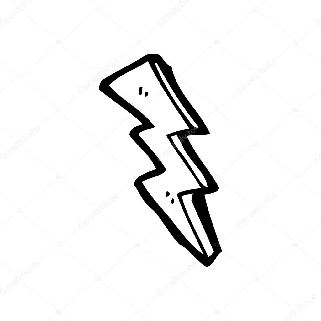 1024x1024 Lightning Bolt Drawing Stock Vector Lineartestpilot