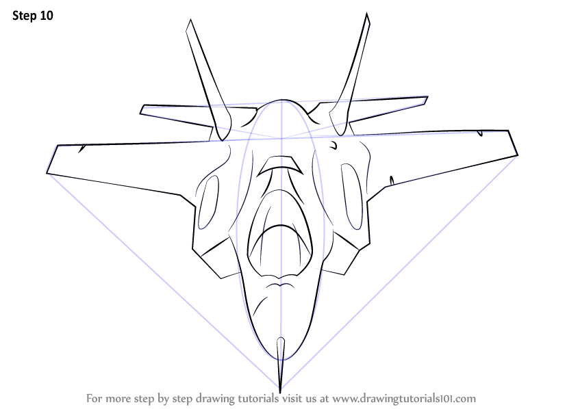 844x598 Learn How To Draw Lockheed Martin F 35 Lightning Ii (Fighter Jets