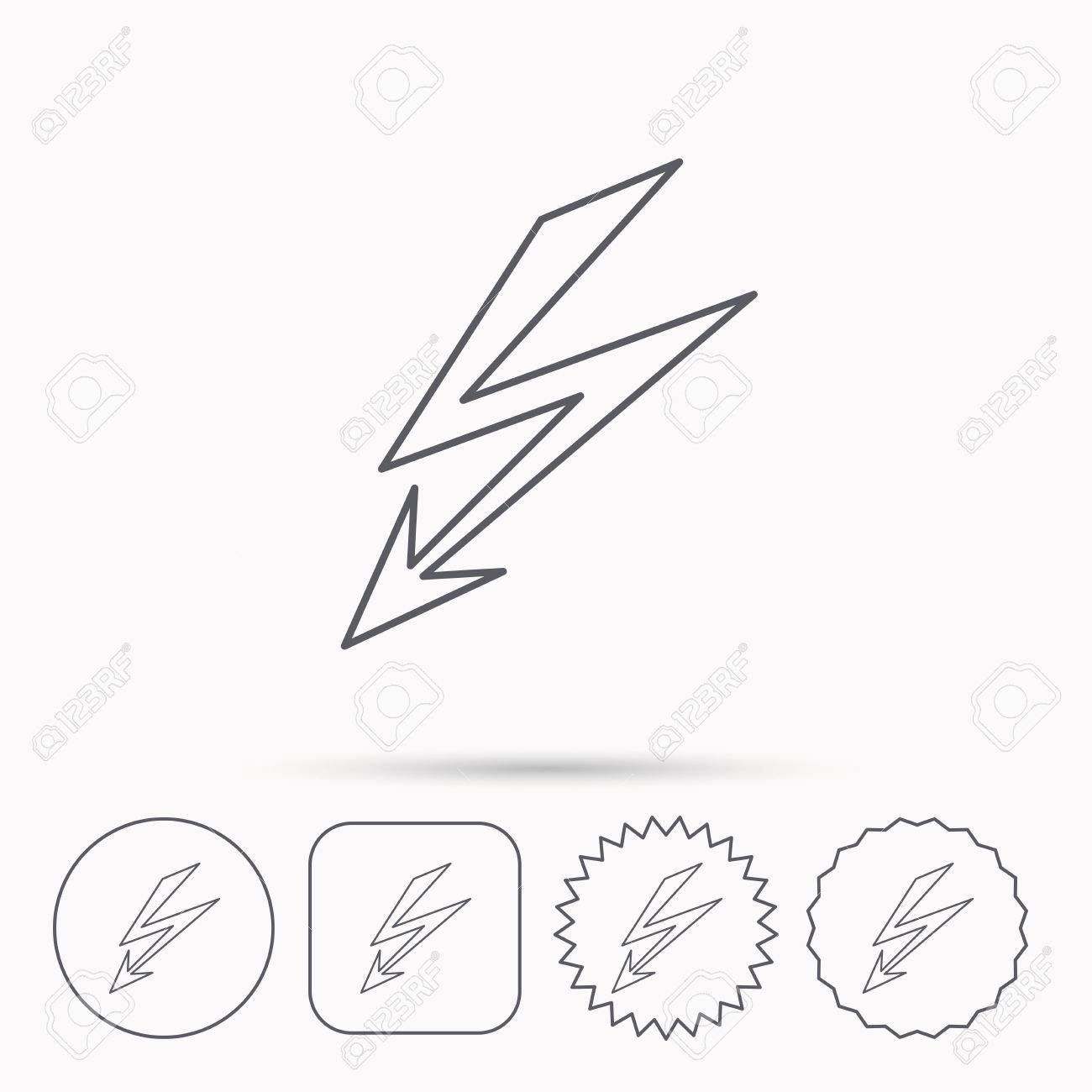 1300x1300 Lightening Bolt Icon. Power Supply Sign. Electricity Symbol
