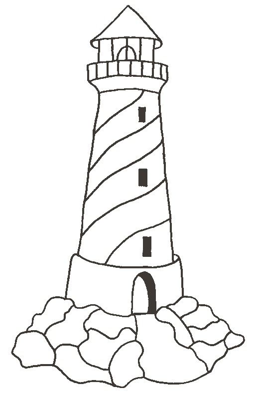 510x794 14 best how to draw a lighthouse images on Pinterest Drawing