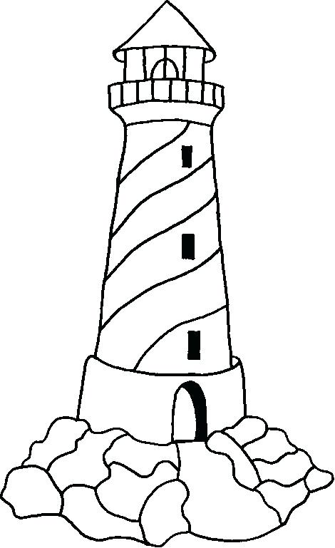 470x769 Lighthouse Coloring Pages For Adults Picture Of A On An Island