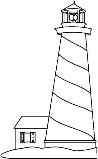 315x512 Lighthouse Coloring Pages To Print Lighthouse Coloring Pages For