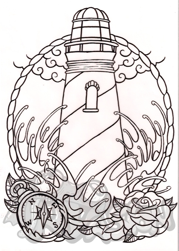 616x865 NVasion Online Store Original Drawing Lighthouse Online