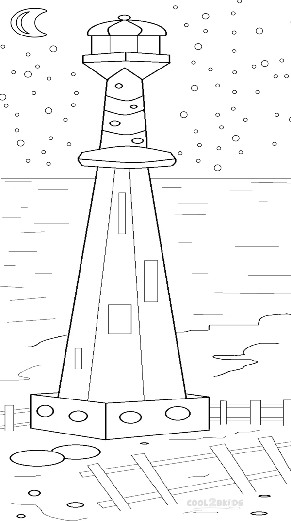 600x1072 Printable Lighthouse Coloring Pages For Kids Cool2bKids