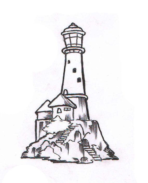 570x704 Custom Light House Temporary Tattoo SomaArtTattoo Temporary
