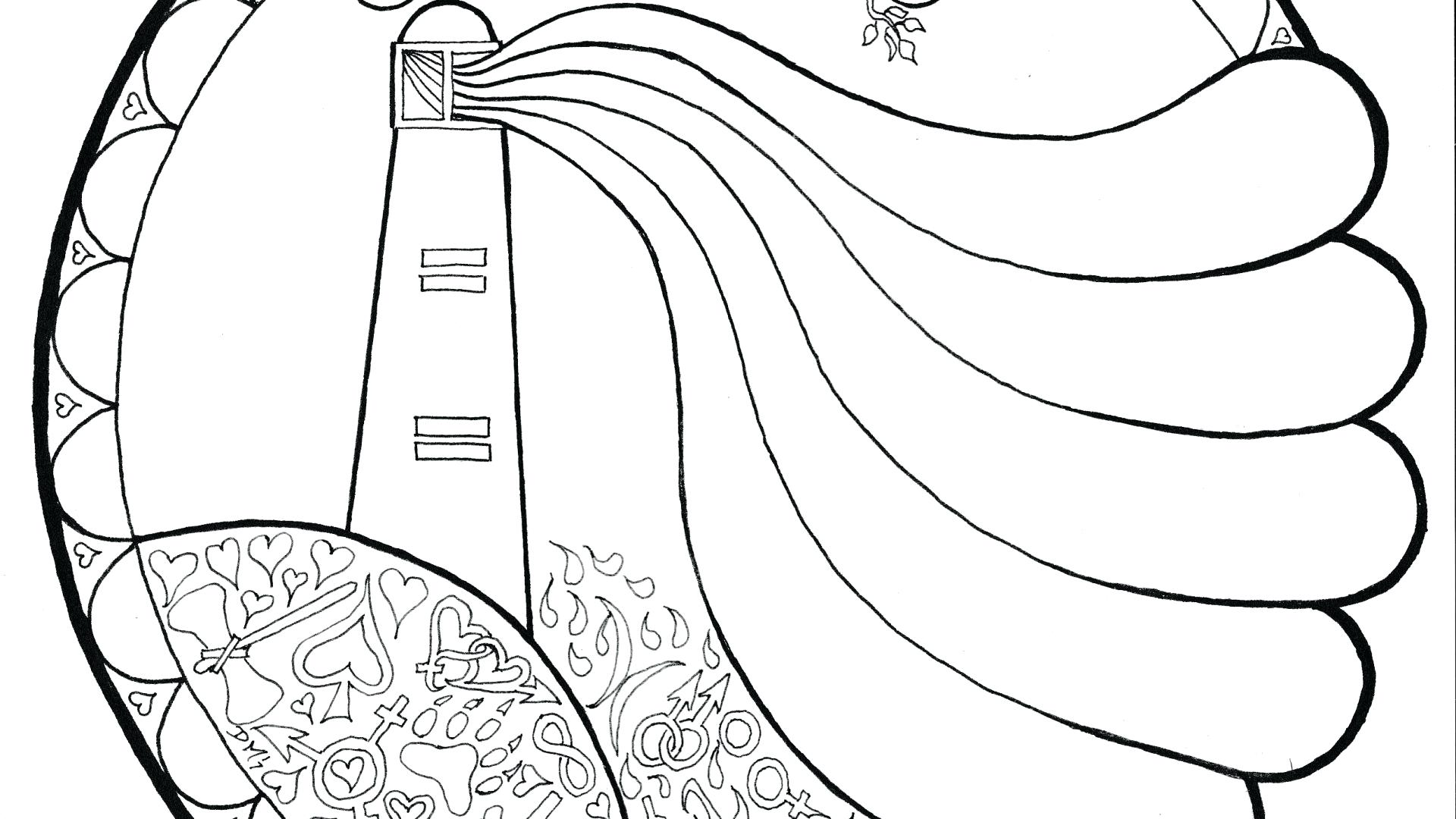 1920x1080 coloring Lighthouse Coloring Page
