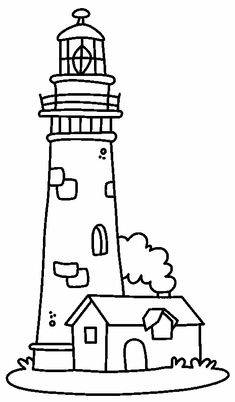 235x402 ocean lighthouse template