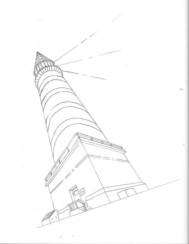 Lighthouse Drawing Images