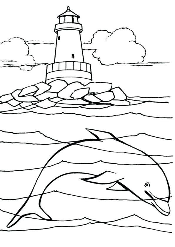 595x842 Lighthouse Coloring Pages Under The Sea Coloring Pages Lighthouse