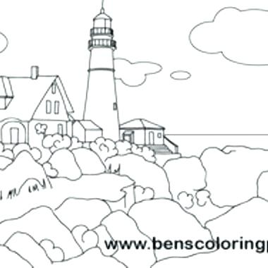 380x380 Beautiful Lighthouse Coloring Pages Or 77 Realistic Lighthouse