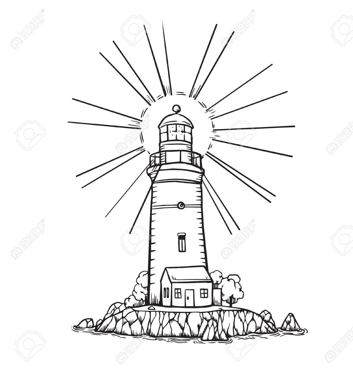 1233x1300 Lighthouse Royalty Free Cliparts, Vectors, And Stock Illustration