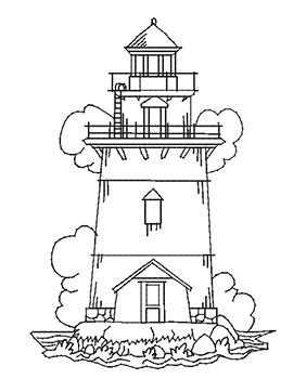 282x350 Mylar Lighthouses Purely Gates Embroidery