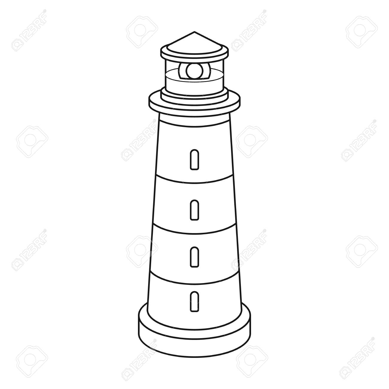 1300x1300 Capricious Lighthouse Outline Pattern Use The Printable For Crafts