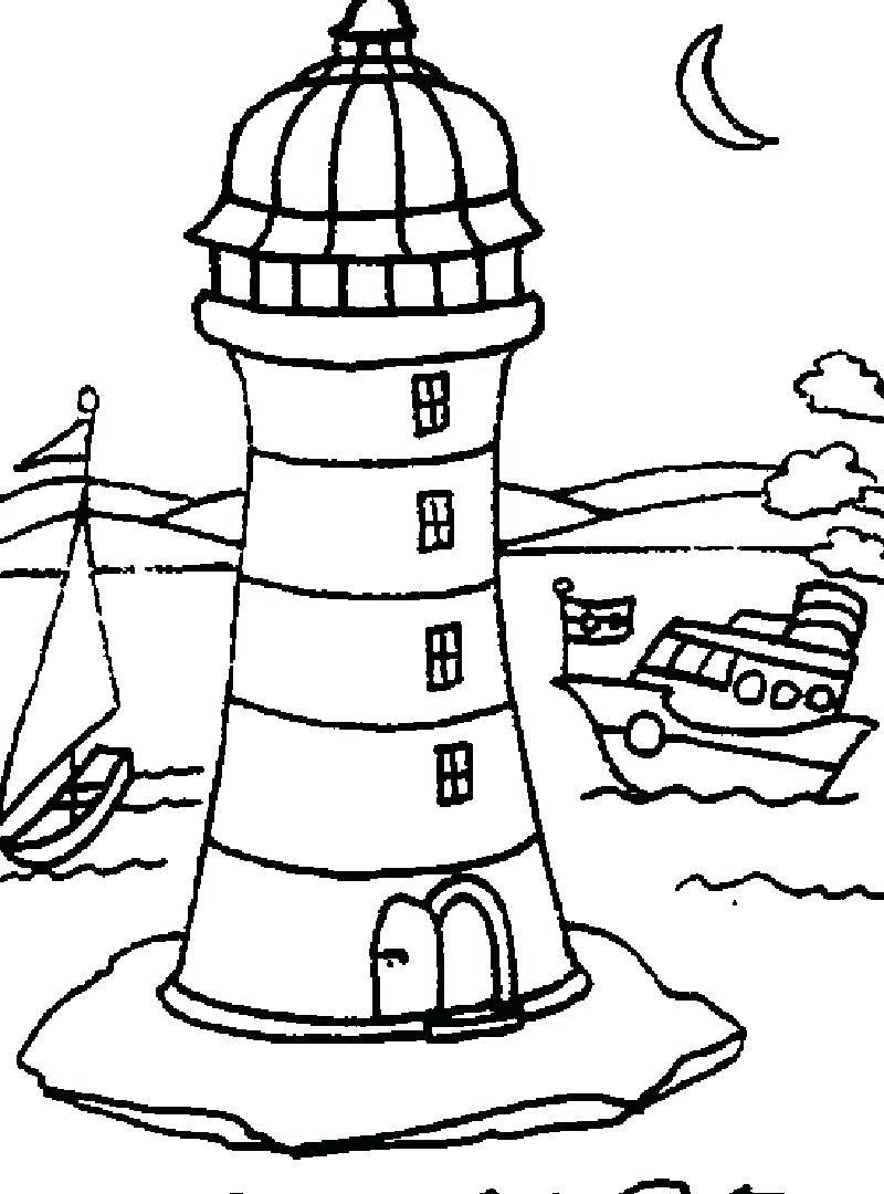 Lighthouse Drawing Simple at GetDrawings.com | Free for personal use ...