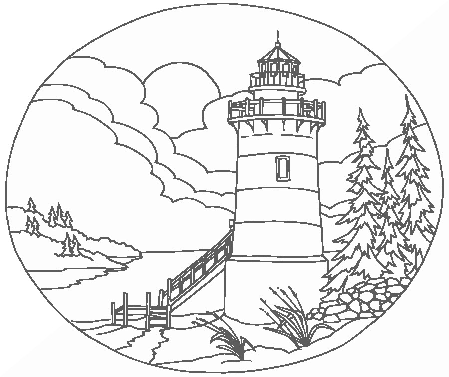 Lighthouse Line Art : Lighthouse line drawing at getdrawings free for
