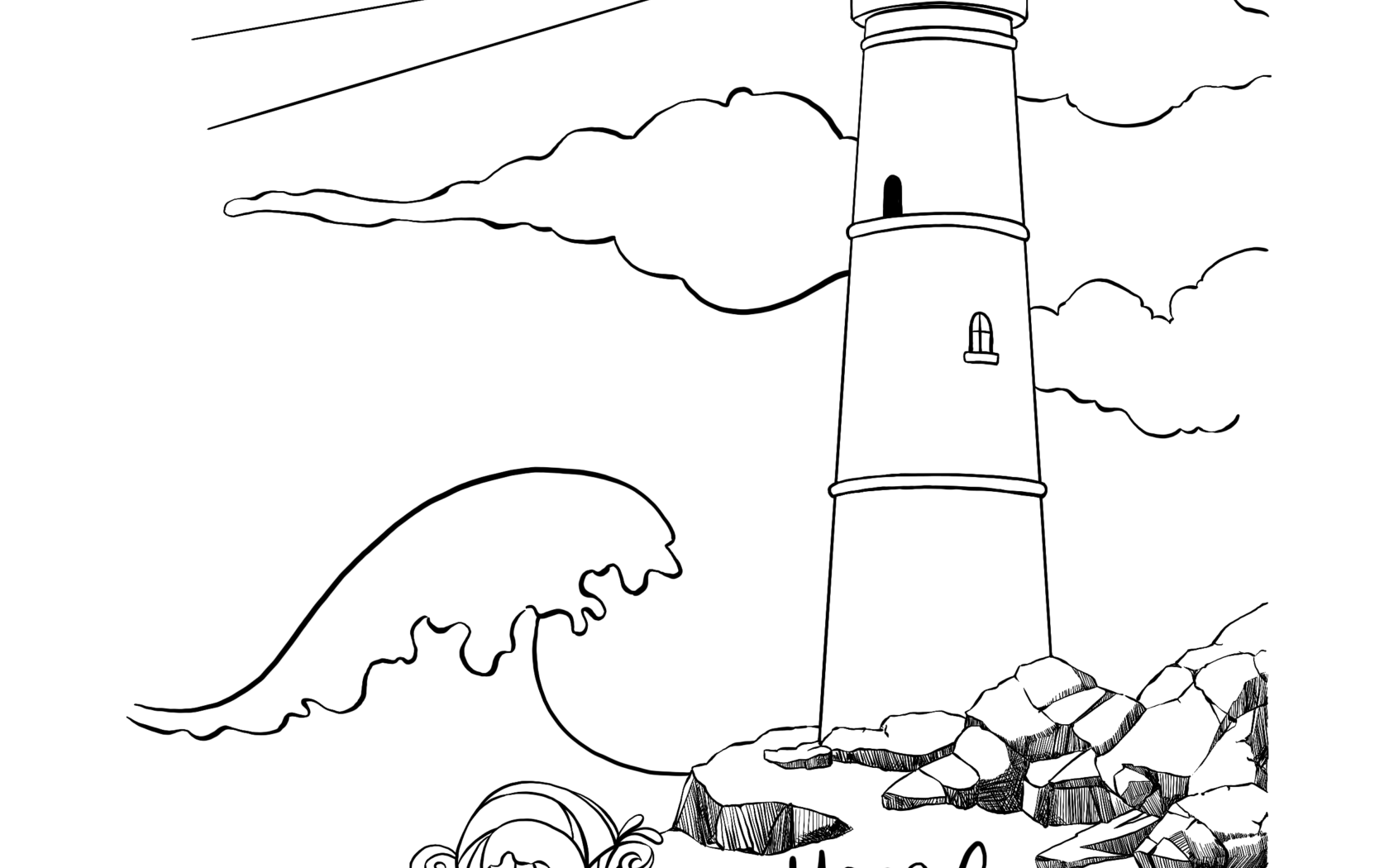 Lighthouse Line Drawing at GetDrawings com | Free for