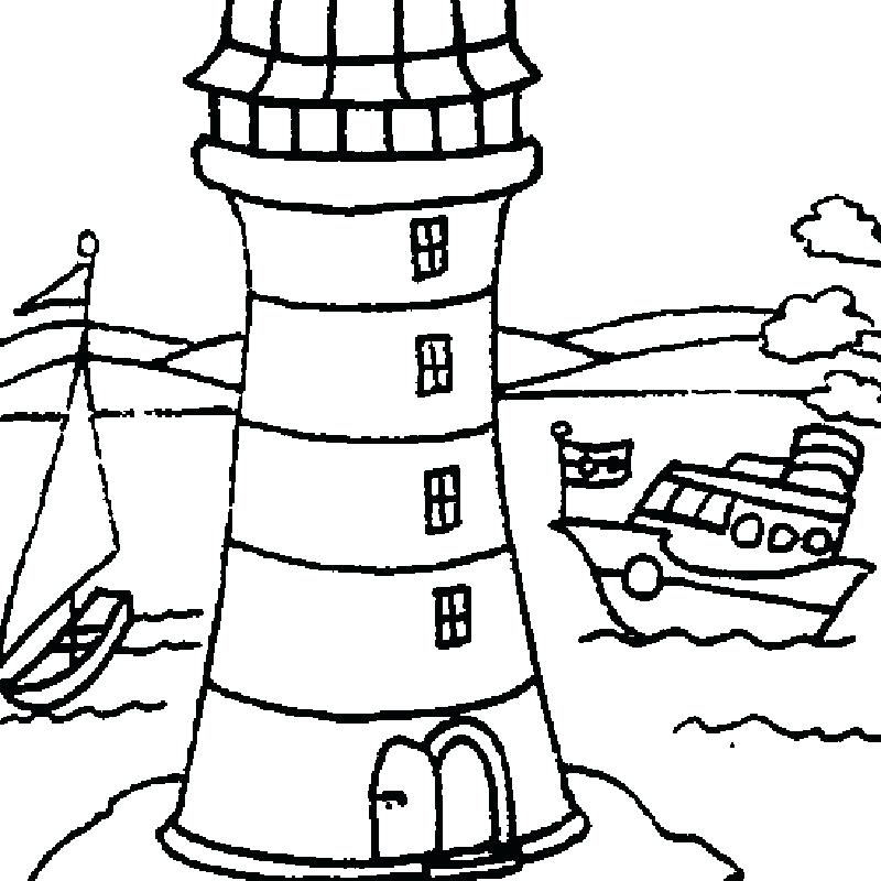 800x800 Lighthouse Coloring Pages Lighthouse At Coastline Coloring Pages