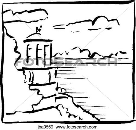 450x430 Lighthouse Clipart Cliff