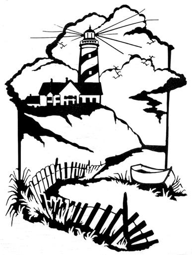 387x513 Cliff Lighthouse Wall Art