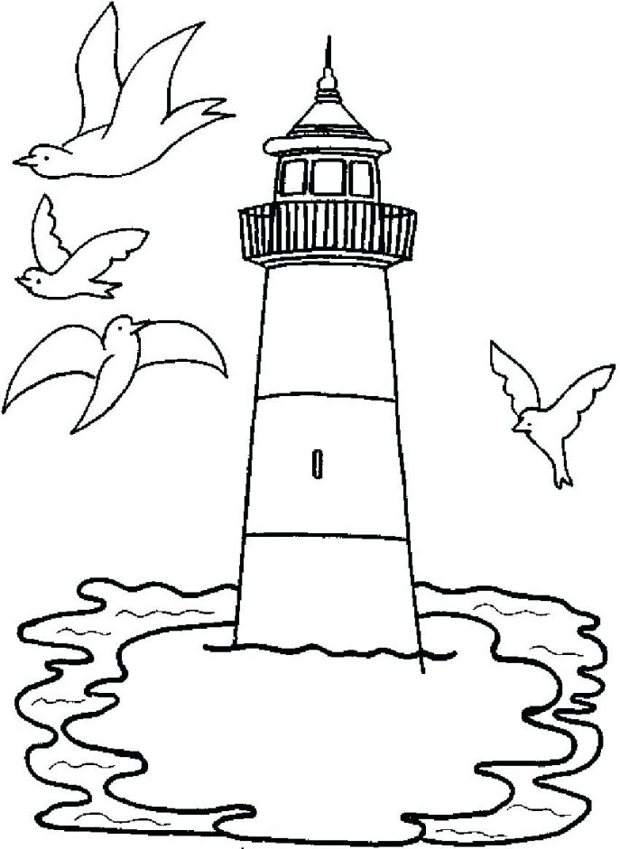 687x941 Coloring Pages Lighthouse Coloring Pages Printable Pictures