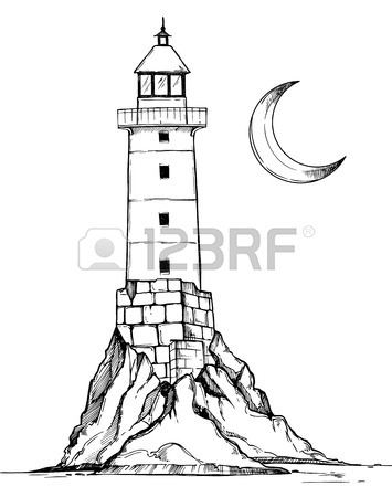 355x450 Lighthouse Painting Stock Photos. Royalty Free Lighthouse Painting