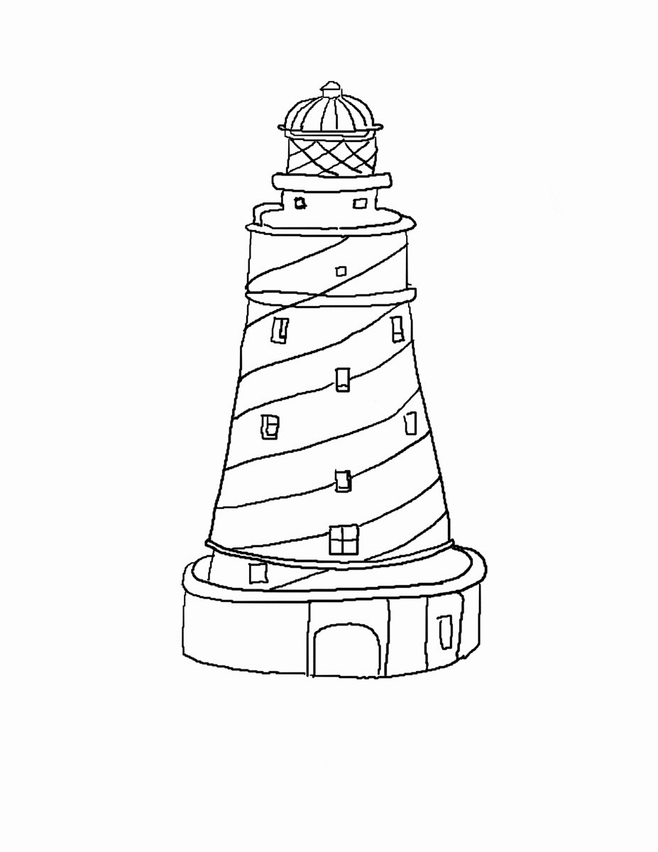 927x1200 50 Beautiful Gallery Of Lighthouse Coloring Pages