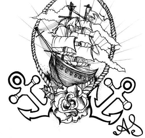 500x477 75 Best Tattoos Images On Nautical Tattoos, Tattoo