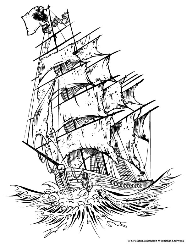 595x783 Pirate Ship Tattoo Designs Going To Try To Improve Your Fonts