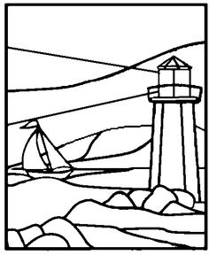 236x288 Lighthouse Coloring Drawings Lighthouse Doodle It Up