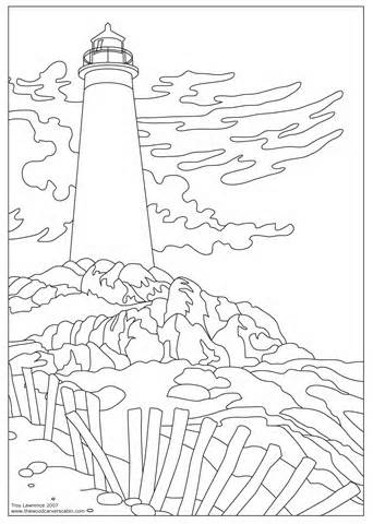 342x480 Lighthouse Coloring Pages Coloring Pages
