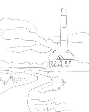 Lighthouses Drawing at GetDrawings.com | Free for personal use ...