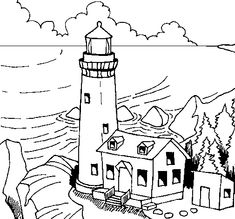 235x219 Lighthouses Of The World (Dover History Coloring Book) By John